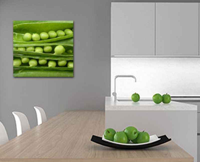 Cuadro decoración cocina moderna guisantes
